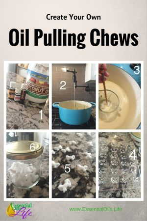 Recipe for DIY chews used for oil pulling