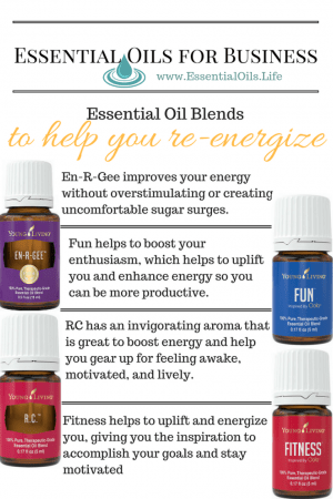 Essential oil blends for business: re-energize with these essential oil blends, without the DIY