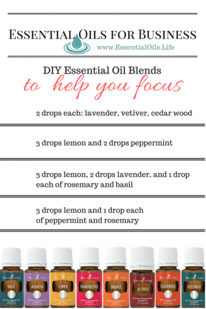 DIY Essential oil blends to help you focus