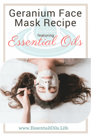 Use this DIY Geranium Facial Mask to help refresh your skin