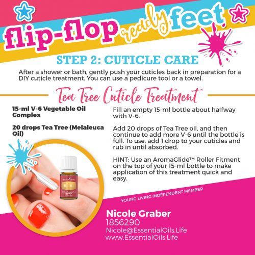 Enjoy summer time with bare feet or candles using this cuticle care treatment in with your DIY pedicure! Perfect for after an invigorating sugar scrub! www.essentialoils.life/diy-summer-pedicure for the whole process!