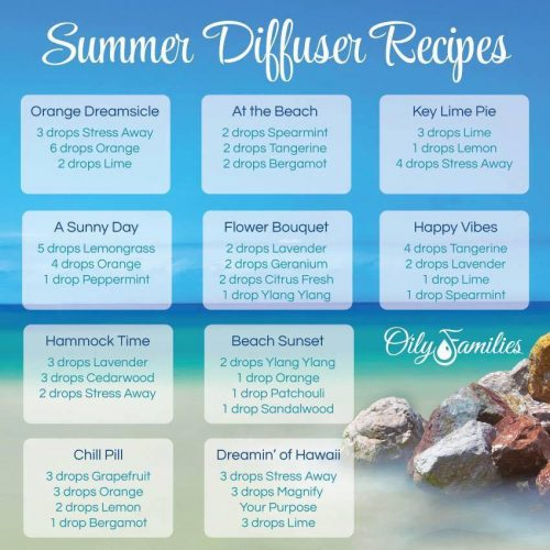 Summertime diffuser blends perfect for hiding from hot weather