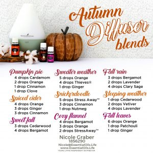 DIY essential oil diffuser blends for fall. Don't forego your home smelling like the autumn candles you used to love... use these instead to avoid the toxic ingredients found in candles.