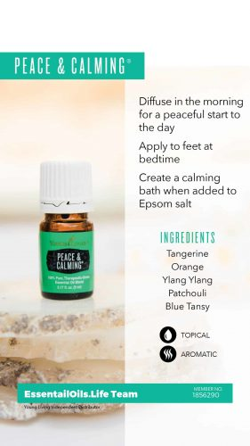 Peace and Calming essential oil blend is highly sought after to help you calm down and relax. Fantastic for reducing stress, P&C has many ways it will help increase your quality of life