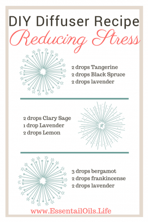Reduce and manage your stress levels with these DIY essential oil diffuser blends... because you deserve peaceful and calming moments instead of being all stressed out.