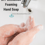 DIY Cinnamon Foaming Hand Soap featuring Castile soap and essential oils to help you gently clean your hands and help support your immune system.