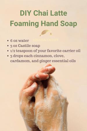 diy chai latte foaming hand soap
