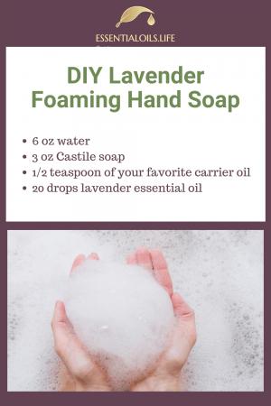 DIY lavender foaming hand soap