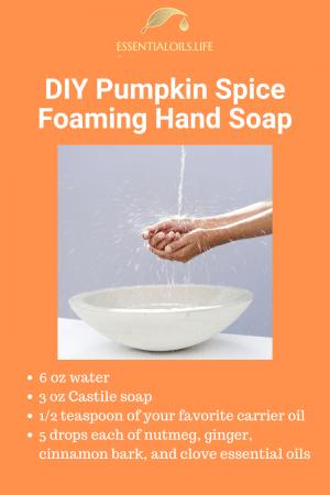 DIY pumpkin spice foaming hand soap recipe