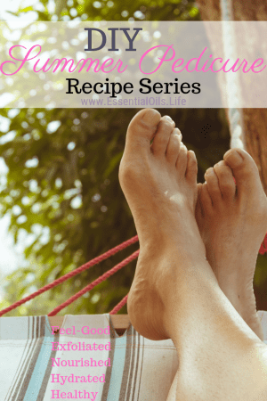 Summertime wouldn't be the same without those barefoot moments, sandals, beach time, pool time, or making memories at the lake. None of which you'll want regular shoes for. Treat your feet to some self-care using these gorgeous-smelling DIY Pedicure recipes featuring lavender essential oil, peppermint essential oil, tea tree essential oil, and eucalyptus essential oil.
