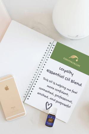 loyalty essential oil blend; confidence; purpose; focus